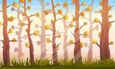 Cartoon Forest Background Landscape — Stock Vector