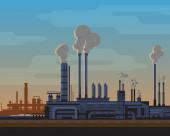 Industrial Landscape — Stock Vector