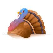 Cartoon Smiling Turkey — Stockvektor