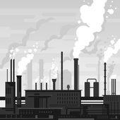 Industrial Plant Landscape — Stock Vector
