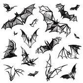 Vector isolated bats — Stock Vector