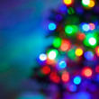 Christmas tree lights blur background — Stock Photo #56400661