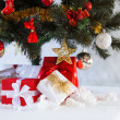 Christmas presents boxes under the fir tree — Stock Photo #56464949
