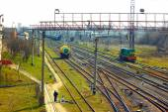 Infrastructure near railway station in Khmelnytsky, Ukraine — Stock Photo