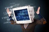 Concept données humaines cyber moniteur pc calcul informatique — Photo