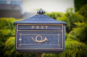 Cloes up of a mailbox on the street — Stock Photo