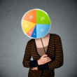 Young woman holding a pie chart — Stock Photo #55464655