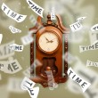 Clock and watch concept with time flying away — Stock Photo #57234057