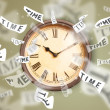 Clock and watch concept with time flying away — Stock Photo #57784119