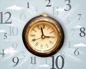 Relógio vintage com números do lado — Fotografia Stock