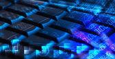 Klavye ile parlayan programlama kodları — Stok fotoğraf