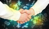 Economy handshake — Stock Photo