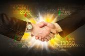 Economy handshake — Стоковое фото