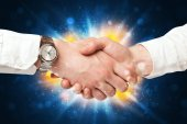 Two business men shaking hands — Stock Photo