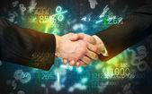 Economy handshake — Foto Stock
