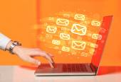 Concept of sending e-mails — Stock Photo