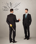 Angry business handshake concept — Stock Photo