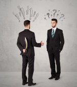 Ruthless business handshake — Stock Photo