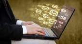Konzept der Versand von e-mails — Stockfoto