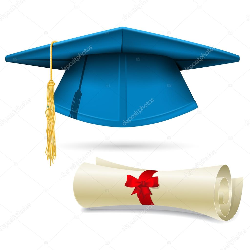 Ciano Capelo E Diploma Chap 233 U De Formatura Vetores De