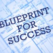 Blueprint for success — Stock Photo #61630467