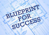 Blueprint for success — Stock Photo