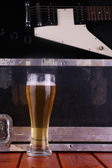 Beer on stage — Stock Photo