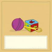 Baby card — Stock Vector