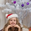 Little girl in Santa Claus hat — Stock Photo #59012019