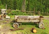 Wooden cart — Stock Photo