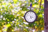Clock on the pole — Stock Photo