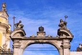 Arch of the cathedral of Saint Yura — Stock Photo
