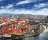 View on Czech Krumlov — Stock Photo