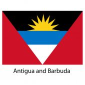 Flag  of the country  antigua and barbuda. Vector illustration. — Stock Vector