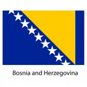 Flag  of the country  bosnia and herzegovina. Vector illustratio — Stock Vector