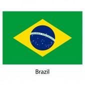 Flaga brazylii kraj. ilustracja wektorowa. — Wektor stockowy