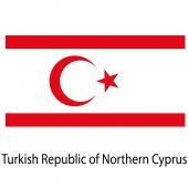 Flag   the country  turkish republic of northern cyprus. Vecto — Stock Vector