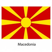 Flag  of the country  macedonia. Vector illustration. — Stock Vector
