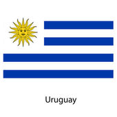 Flag  of the country uruguay. Vector illustration. — Stock Vector