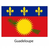Flag  of the country guadeloupe. Vector illustration. — Stock Vector
