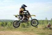 Rider participates in the  round — Stock Photo