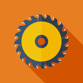 Modern flat design concept icon. Vector illustration.Saw circula — Stock Vector