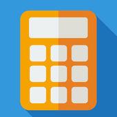 Modern flat design concept icon calculator. Vector illustration. — Stock Vector