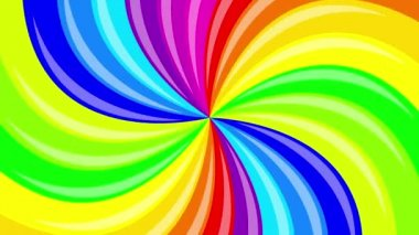 Colorful background rainbow  that  rotating spiral. 2d animation. — Stock Video