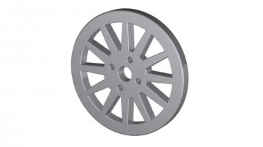 Car wheel,  illustrations in motion, isolated on white background. 3d animation. — Stock Video