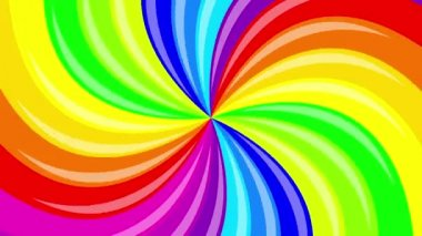 Colorful background rainbow  that  rotating spiral.  animation. — Stock Video