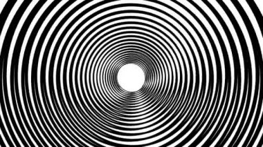 Spiral hypnotic animation. Black and white looping. animation. — ストックビデオ