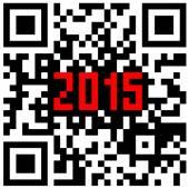 New Year counter, QR code vector. — Stock Vector
