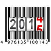 New Year counter, barcode, vector. — Stock Vector