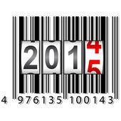 New Year counter, barcode, vector. — Vetor de Stock